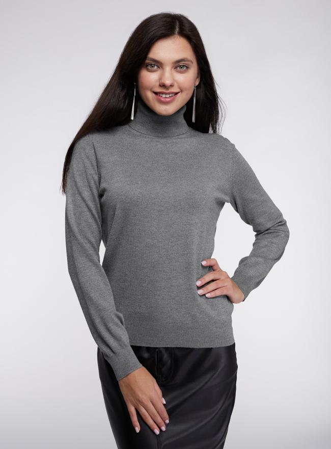Свитер вязаный базовый oodji для женщины (серый), 74412005-5B/45755/2300M