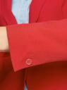 Жакет базовый приталенный oodji для женщины (красный), 11200286B/14917/4500N