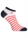 Комплект укороченных носков (6 пар) oodji для женщины (разноцветный), 57102433T6/47469/19