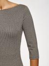 Платье приталенное с вырезом-лодочкой oodji #SECTION_NAME# (черный), 14011011-2/46979/2930G - вид 5