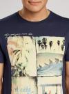 Футболка свободного силуэта с пляжным принтом oodji #SECTION_NAME# (синий), 5L611165M/39496N/7950P - вид 4