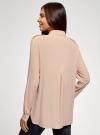 Блузка вискозная с нагрудными карманами oodji #SECTION_NAME# (розовый), 11411127-1B/42807/4B00N - вид 3