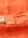 Рубашка хлопковая свободного силуэта oodji #SECTION_NAME# (оранжевый), 11411101B/45561/5500N - вид 5