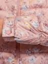 Куртка стеганая с круглым вырезом oodji #SECTION_NAME# (розовый), 10203072B/42257/4B19F - вид 5