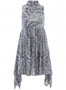 Платье oodji для женщины (белый), 11900222/35271/1079F