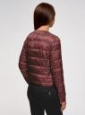 Куртка стеганая с круглым вырезом oodji #SECTION_NAME# (красный), 10203072B/46708/4912G - вид 3
