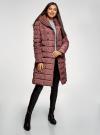 Пальто стеганое с объемным воротником oodji для женщины (красный), 10204049-1B/24771/3102N - вид 6