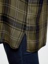 Блузка из вискозы с вышивкой на спине oodji #SECTION_NAME# (зеленый), 11411171/46974/6629C - вид 5