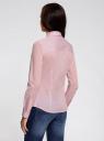 Рубашка приталенного силуэта базовая oodji для женщины (розовый), 11403228B/42083/4000N
