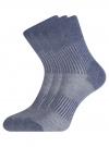 Комплект из трех пар спортивных носков oodji #SECTION_NAME# (синий), 57102811T3/48022/17 - вид 2