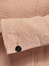 Пальто жаккардовое укороченное oodji для женщины (бежевый), 10104041-1/33289/3500N - вид 5