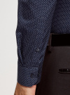 Рубашка приталенная в горошек oodji #SECTION_NAME# (синий), 3B110016M/19370N/7910D - вид 5