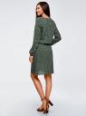 Платье вискозное на кулиске oodji #SECTION_NAME# (зеленый), 11911031/26346/6E57E - вид 3
