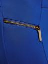 Брюки узкие с декоративными молниями oodji для женщины (синий), 21707013-1/42250/7500N