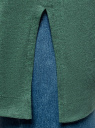 Футболка удлиненная с рукавом 3/4 oodji #SECTION_NAME# (зеленый), 24201003-7/46158/6D55Z - вид 5