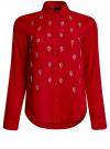 Блузка из струящейся ткани с украшением из страз oodji #SECTION_NAME# (красный), 11411128/36215/4500N