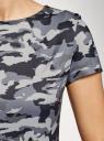Платье приталенное с металлическим декором на плечах oodji #SECTION_NAME# (серый), 14001177/18610/2523O - вид 5
