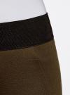 Легинсы с широким поясом-резинкой oodji #SECTION_NAME# (коричневый), 28701001/37854/6800N - вид 5