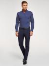 Рубашка приталенная с пуговицами на воротнике oodji #SECTION_NAME# (синий), 3L110247M/44425N/7910D - вид 6