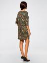 Платье принтованное прямого силуэта oodji #SECTION_NAME# (зеленый), 21900322-1/42913/6859F - вид 3