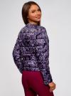 Куртка стеганая с круглым вырезом oodji для женщины (фиолетовый), 10203072B/42257/7983E - вид 3