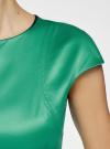 Платье-футляр с вырезом-лодочкой oodji для женщины (зеленый), 11902163-1/32700/6E00N - вид 5