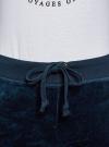 Брюки спортивные на завязках oodji для женщины (синий), 16701051B/47883/7900N - вид 4