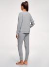 Пижама хлопковая с брюками oodji #SECTION_NAME# (серый), 56002224/46154/2049Z - вид 3