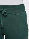 Брюки трикотажные спортивные oodji для женщины (зеленый), 16700030-8B/42484/6E00N