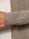 Кардиган удлиненный без застежки oodji для женщины (бежевый), 73212385-4B/45641/3500M