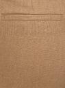 Брюки льняные укороченные oodji для женщины (бежевый), 21701092B/16009/3500N
