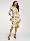 Платье вискозное на пуговицах oodji для женщины (разноцветный), 21900318/42127/1019F - вид 6