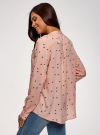 Блузка вискозная А-образного силуэта oodji #SECTION_NAME# (розовый), 21411113-1B/48458/5429O - вид 3
