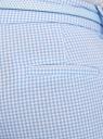 Брюки клетчатые с ремнем oodji #SECTION_NAME# (синий), 11703057-8/43273/1270C - вид 5