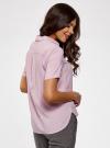 Блузка вискозная с короткими рукавами oodji #SECTION_NAME# (розовый), 11411137B/14897/4000N - вид 3