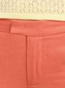Брюки льняные прямые oodji #SECTION_NAME# (оранжевый), 21701092/16009/5900N - вид 5