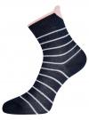 Комплект из трех пар хлопковых носков oodji для женщины (разноцветный), 57102802-3T3/47613/30 - вид 4