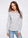 Рубашка базовая с нагрудными карманами oodji #SECTION_NAME# (белый), 11403222B/42468/1029G - вид 2