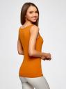 Майка базовая oodji для женщины (оранжевый), 24315001B/46147/5900N