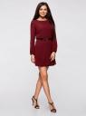 Платье из шифона с ремнем oodji для женщины (красный), 11900150-5B/32823/4900N
