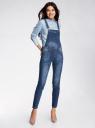 Комбинезон джинсовый с нагрудным карманом oodji #SECTION_NAME# (синий), 13108004/45379/7900W - вид 2