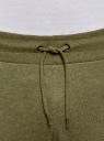 Брюки трикотажные на завязках oodji #SECTION_NAME# (зеленый), 5B200004M-1/44119N/6600M - вид 4
