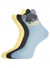 Носки безбортные (комплект из 3 пар) oodji для женщины (разноцветный), 57102802-2T3/47613/18 - вид 2