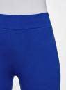 Легинсы базовые трикотажные oodji #SECTION_NAME# (синий), 18700046-2B/47618/7501N - вид 4