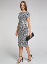 Платье трикотажное с графическим принтом oodji #SECTION_NAME# (синий), 14018001/45396/7912G - вид 6