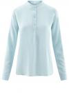 Блузка вискозная А-образного силуэта oodji #SECTION_NAME# (синий), 21411113B/26346/7001N
