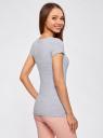 Комплект приталенных футболок (5 штук) oodji для женщины (разноцветный), 14701005T5/46147/19W6N