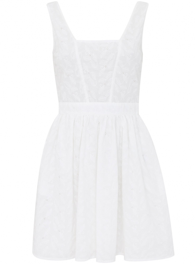 Платье oodji для женщины (белый), 11900192/42854/1200N