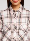 Рубашка в клетку с нагрудными карманами oodji #SECTION_NAME# (белый), 11411052-2/45624/7912C - вид 4