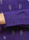 Блузка из струящейся ткани с украшением из страз oodji #SECTION_NAME# (фиолетовый), 11411128/36215/7500N - вид 5